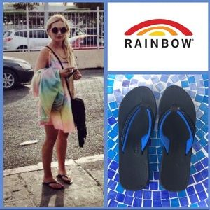 ULTRA COMFY Rainbow soft footbed flip flop sandals
